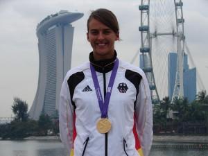 Judith mit Goldmedaille in Singapur
