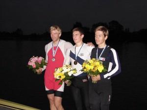 Sven Hüttermann (re) mit Daniel Makowske (Hamburg, re.) und Patrick Leineweber (Celle, Mitte)