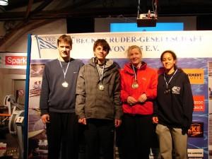 Sieger in der Juniorenstaffel: von links Michael Botz, Thies Mohr, Johanna Botz, Elisabeth Amenu