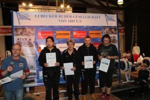 erfolgreiche Handicap Starterinnen v. l. In-Young Kim, Susi Lenc, Steffi Scheel und Landesmeisterin Nadine Tiegs