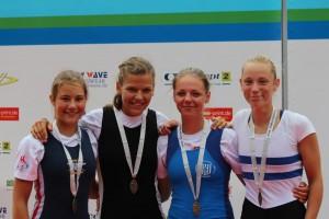 Deutsche Meisterinnen Siegerehrung