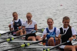 Deutsche Meisterinnen im Boot