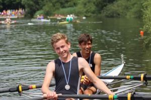 Silber im Leichtgewichtszweier für Henry (links) und Lukas (rechts)