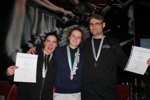 Die drei Bronzemedaillengewinner
