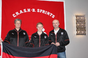 Ulrike Sievers, Nils Stutz und Trainer Michael Schürmann