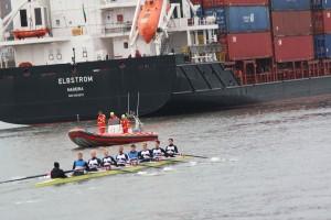 Training auf dem Nord-Ostsee Kanal
